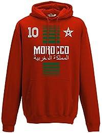KiarenzaFD Sudadera con Capucha Hombre Nacional Deporte Morocco Marruecos Maroc 10 Futbol Deporte Africa Stella 1