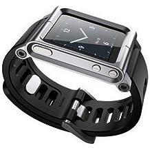 Kepuch Apple iPod Nano 6 6nd 6G 6Th Aluminio Metal correa ver BandaMuñeca Equipo Carcasa Funda Smart Case Cover Para Apple iPod Nano 6 6nd 6G 6Th,Plata