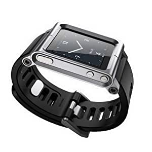 Kepuch Apple iPod Nano 6 6nd 6G 6Th Aluminium MÉtal Voir Band Poignet Kit Smart Cover Étui Housse Pour Apple iPod Nano 6 6nd 6G 6Th,Argent