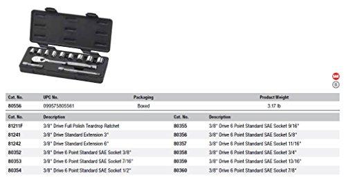 GearWrench, 12-teiliges 3/8-Antrieb Sae Socket Set