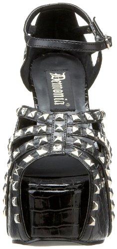 Demonia , Chaussures à talons femme Noir - noir