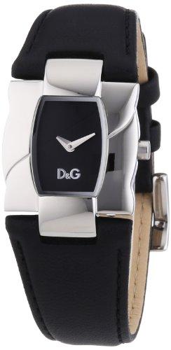 D&G Dolce&Gabbana Ollie - Reloj analógico de mujer de cuarzo con correa de piel negra - sumergible a 30 metros