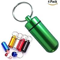WESEEDOO Packung mit 4 Aluminium Flasche Outdoor Portable Kleine Fall Schlüsselanhänger Hängende Flasche Box Pille... preisvergleich bei billige-tabletten.eu