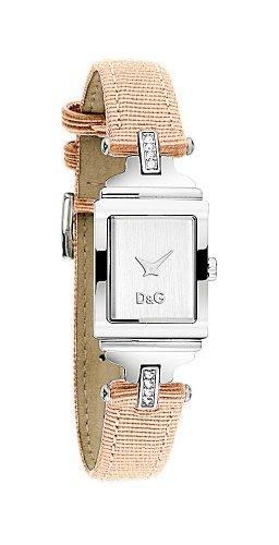 Dolce & Gabbana DW0335 - Reloj de mujer de cuarzo, correa de piel color rosa