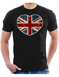 Cloud City 7 Union Jack Love Heart Mens T-Shirt