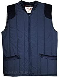 Mens Bodywarmers With Inside Lining Windproof Padded Warm Winterwear (Large, Navy)