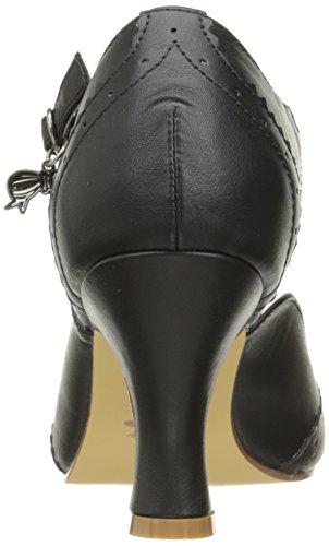 Pin Up Couture - Flapper-11, Scarpe con cinturino Donna Black (Blk Faux Leather)