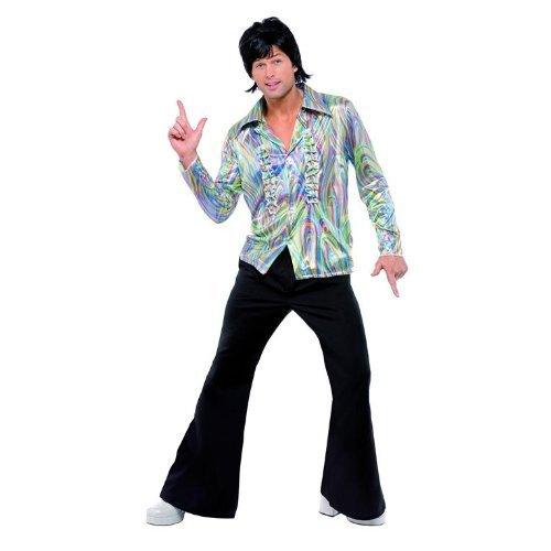Fun Super Kostüm Night - Smiffy 's-Kostüm-Jahre 70s Herren, Größe M (33841MD)