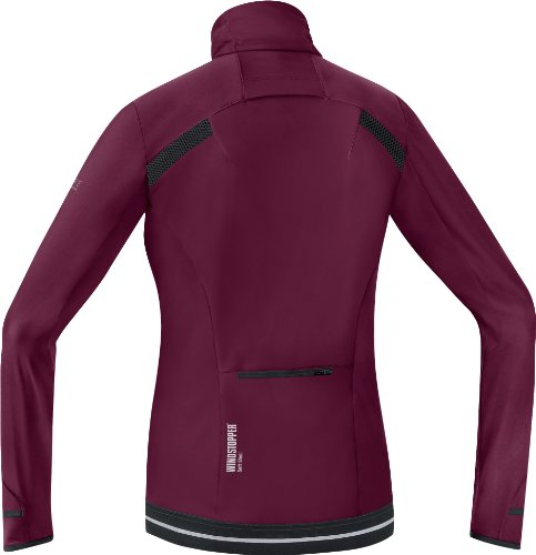 Gore Running Wear Air 2.0 So Windstopper Maillot Femme Bordeaux/rose vif
