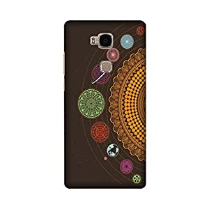 Abaci designed Honor 5X Mobile Back cover with Perfect Matte finishing and Universe Illustration design(Multicolor)