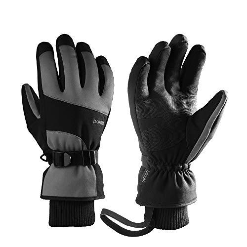 FORTUNAM Winterhandschuhe Herren Damen Skihandschuhe Wasserdicht Thermo Winterhandschuhe Touchscreen Warme Handschuhe Uniesex Outdoor Handschuhe Sporthandschuhe für Ski Radfahren Lauf