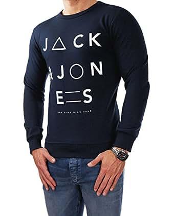 Jack & Jones Herren Sweatjacke STORM SWEAT mit Kapuze (S, Blau (Navy Blazer Fit:REG))