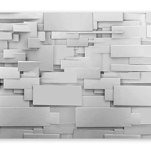 #murando – Fototapete Abstrakt 400×280 cm – Vlies Tapete – Moderne Wanddeko – Design Tapete – Wandtapete – Wand Dekoration – 3D grau f-A-0254-a-a#
