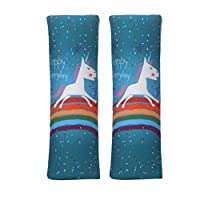1 Pair Car Seat Belt Pads Cover Cartoon Seat Belt Shoulder Strap Covers Harness Pad For Car/Bag Soft Comfort Helps Protect You Neck And Shoulder From The Seat Belt Rubbing - Rainbow Horse