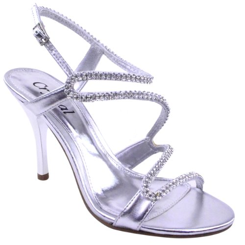 LADIES WOMENS PROM PARTY EVENING BRIDAL BRIDESMAID HIGH HEELS SHOES SANDALS SIZE...