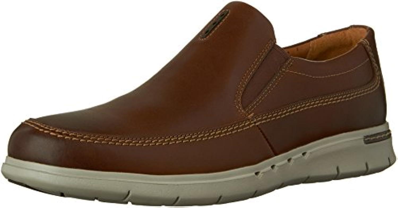 CLARKS Men's Un.Byner Easy Dark Brown Leather Loafer 9 D (M)