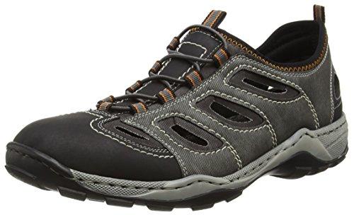 Rieker - 08065 Sneakers-men, Scarpe da ginnastica Uomo Grigio (Schwarz/rauch)