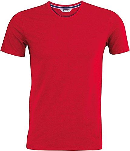Kariban Vintage Herren Tee Erwachsene Crew Neck Short Sleeve Slim Fit Casual T-Shirt Rot - Vintage Red