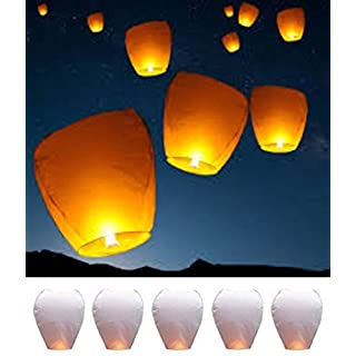 ARUNDEL SERVICES EU 5 LARGE CHINESE SKY LANTERNS Chinese Flying Lanterns Fly Candle Lamps for Christmas, New Years Eve, Wish Party &Weddings Bio-degradble sky lanterns.