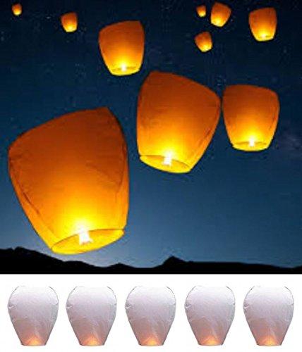 5 LINTERNAS DE CIELO CHINO GRANDES Linternas vuelo