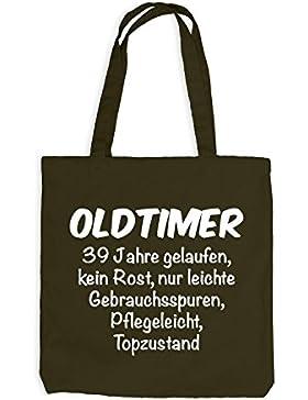 Jutebeutel - Oldtimer Geburtstag 39 Jahre - Birthday 39 Years Fun Geschenkidee