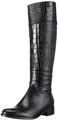 Giudecca JY1513-1 Damen Langschaft Stiefel Schwarz (Black)