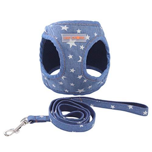 Atmungsaktive weiche Weste Geschirr Haustier Produkt Cute Puppy Cowboy Dog Geschirr + Leine Set Katze Brust Haustier Walking Geschirr
