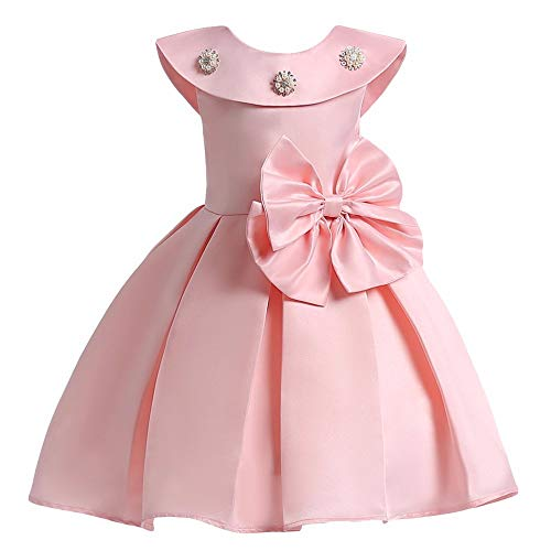 SOFYANA Baby Girl's Polyester Gown (SY-DRESS_203_1-2Years _Peach_ 1 - 2 Years)