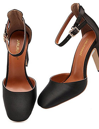 WSS 2016 Chaussures Femme-Décontracté-Noir / Rouge / Gris / Orange-Gros Talon-Talons-Talons-Laine synthétique orange-us5.5 / eu36 / uk3.5 / cn35