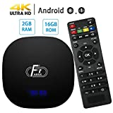 TV Box Android 8.1-Dolamee F1 2GB RAM+16GB ROM Mini Smart TV Box con Amlogic Quad Core 64 bits /4K HD/3D/2.4GHz WiFi/LAN10/100M,2019 New Media Player