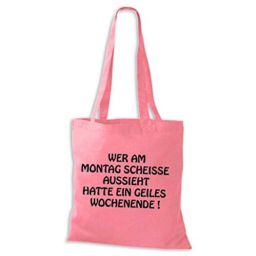 Shirtastic  Jutebeutel, Cabas pour femme Rose