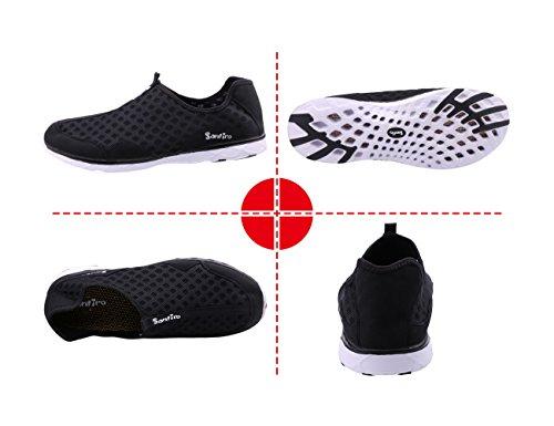 CANRO Chaussures de sport aquatique et de plage Water Shoes Pour Homme Noir