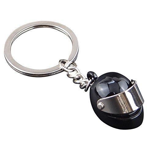 Skyeye 1 Stück Motorradhelm Helme Schlüsselanhänger Anhänger (schwarz)
