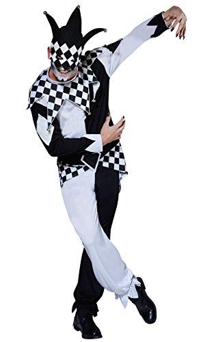 Dark Jester Halloween Circus, Erwachsene Kostüm-Standard Größe ()