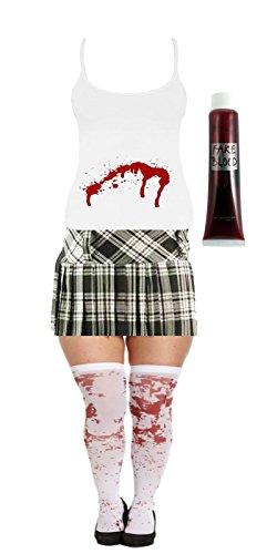 GCC Fashion Store Halloween Bloody Damen Schule Mädchen -