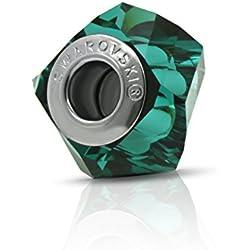 Genuine Charm Bead de Swarovski - Verde Esmeralda-Se adapta a Pandora Pulseras - Regalo ideal para mujeres y niñas - Viene en caja de regalo