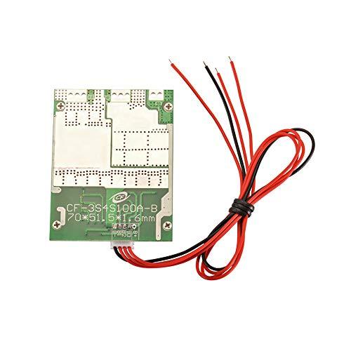 Kreema Lithium-Batterie-Schutz-Brett-Eisen-Phosphat LFP 4S 100A 12V LiFePO4 w/Brett-Laden-Prüfer mit ausgleichender Funktion