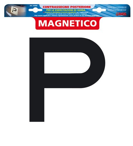 LAMPA 65356 Contrassegno Magnetico P Posteriore, 30 x 30 mm