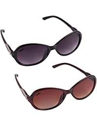 Criba Anti-Reflective Butterfly Unisex Sunglasses - (Ladiescomb|50|Black Color)