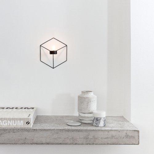 Menu 4766539 Wand-Kerzenhalter POV, 21 x 10,5 x 18,5 cm, schwarz - 3