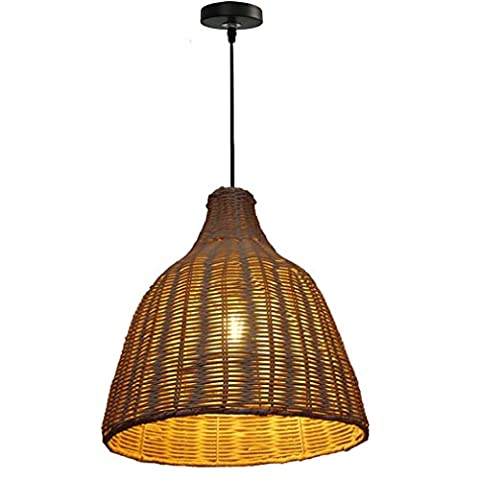 GRFH Rattan Lamps Natural Rattan Bamboo And Traditional Crafts Handmade Rattan Pendant Lamp