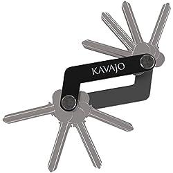 Key Organizer Schlüssel Organizer für bis zu 12 Schlüssel - Aus belastbarem leichten Flugzeug Aluminium