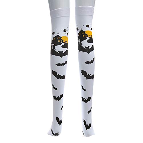 Flower Fancy Dress Kostüm Childrens - Halloween Fledermaus Socken Lange Rohr Socken Über das Knie Lustige Kleid Party Requisiten Cosplay Kostüm Geschenk für Frauen Mädchen