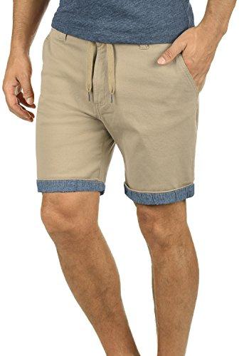 !Solid Lagoa Herren Chino Shorts Bermuda Kurze Hose Mit Kordel Aus Stretch-Material Regular Fit, Größe:XL, Farbe:Dune (5409)