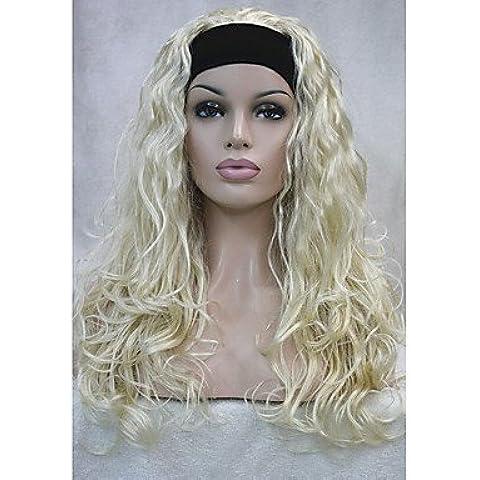 GSP-nueva media peluca de la manera 3/4 pelucas largas con opciones de color de la peluca rubia de pelo rizado de la venda sintética! 4colors! , 613