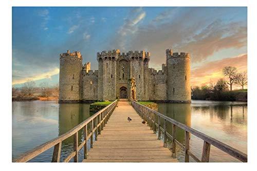 Puzzle 1000 Teile Bodiam Castle Bei Sonnenuntergang Lernspielzeug Für Erwachsene Zur Freizeitunterhaltung Für Kinder -