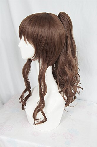 LanTing Cosplay Perücke SHONEN MAGAZINE COMICS Brown Lange Perücke Clip Cosplay Party Fashion Anime Human Costume Full wigs Synthetic Haar Heat Resistant Fiber (Kostenlos Mens Magazine)