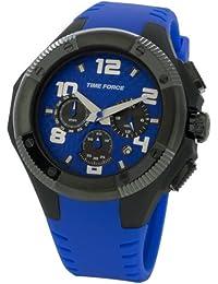 Time Force - Reloj caballero caucho, color negro y azul