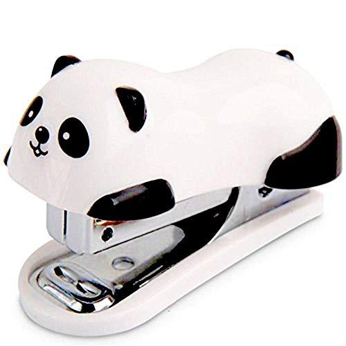 Vektenxi Büro-Metallpapier-Buch-Ministapler-Netter Panda-Blick-Auftrag 12 PC-Papiere bequem und praktisch