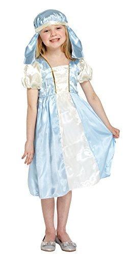 Kostüm Maria Jungfrau Mädchen - Fancy Me Mädchen Jungfrau Maria Weihnachten Krippenspiel Schule Play Weihnachten Kostüm Kleid Outfit 4-12 Jahre - 4-6 Years